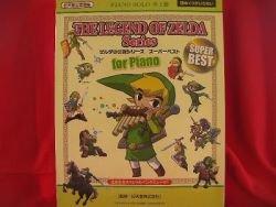"Nintendo Legend of Zelda 34 Piano Sheet Music Collection Book ""High Rank"""