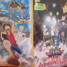 One Piece & Digimon the movie 'Clockwork Island Adventure' guide art book 2001