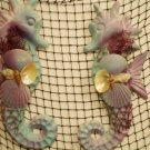 Small Seahorse Wall hanging (multi color; pink,blue) (set of two)