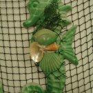 Large Green Seahorse Wall hangings (natural green) (set of 2)