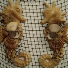 Small Seahorse Wall Hangings (sand Color) (set of two)