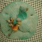 Sand Dollar Wall Plaque (teal/teal shell accents)