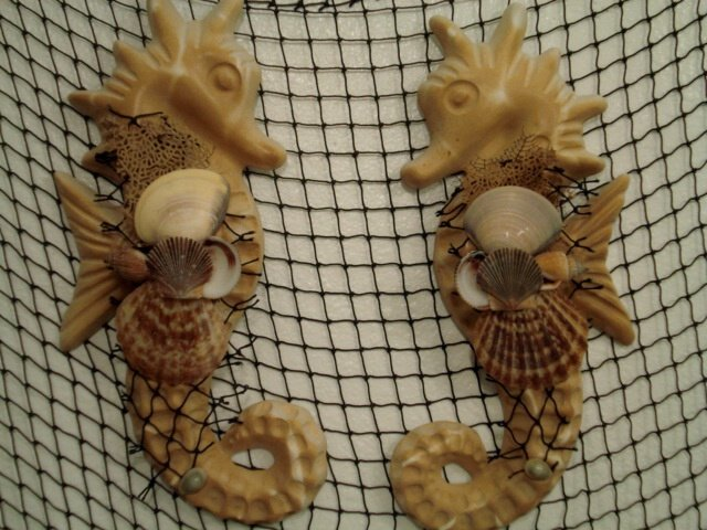 Large Seahorse Wall Plaques (tan/sand color)