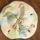 Sand Dollar Wall Plaque Multi color Pastels w/ Dolphin and Seahorse accents