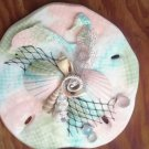 Sand Dollar Wall Plaque Multicolor Teal/Pink/Green