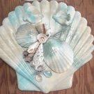 Seashell Plaque Multi color Teal/sand