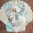 Seashell Plaque multi color with fish accents