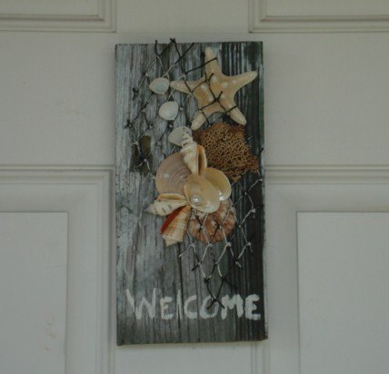 'Welcome' Sign Black