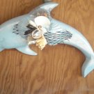 Dolphin Wall Plaque Light Blue