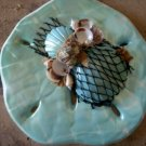 Sand Dollar PLaque Light Teal and White