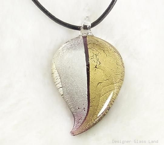 P059 MURANO GLASS 2 WAY DROP PENDANT NECKLACE, FREE SHIPPING!!!