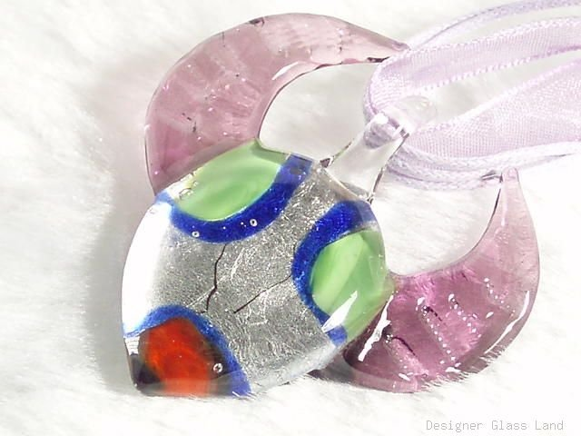 P446 MURANO LAMPWORK GLASS BUFFALO PENDANT NECKLACE, FREE SHIPPING!!!