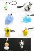 W208 WHOLESALE LOT 10PCS CUTIE LAMPWORK GLASS MOBILE STRAP