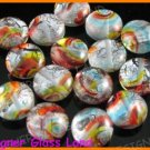 GQ006 LOT 15PCS*12MM DICHROIC GLASS ROUND BEADS ITALIAN