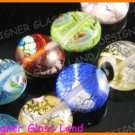 "GQ010 15"" * 12MM DICHROIC GLASS ROUND BEADS ITALIAN"