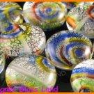 GQ011 LOT 10PCS * 16MM DICHROIC GLASS BEADS ITALIAN