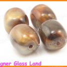 GQ019 20PCS 14*12MM OPALINE BROWN BEADS