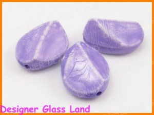 GQ023 LOT 10PC 26*19MM PURPLE ARCYLIC BEADS FOR DIY