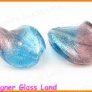 GQ031 LOT 20PCS*21MM LAMPWORK GLASS LEAF BEADS DIY