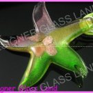 P871F LAMPWORK GLASS COLORFUL STAR PENDANT NECKLACE