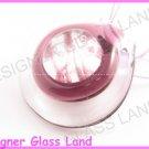 P873F LAMPWORK GLASS PURPLE ROUND PENDANT NECKLACE