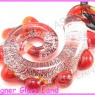 P893F  LAMPWORK GLASS RED DRAGON PENDANT NECKLACE