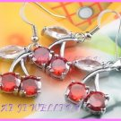 AS377F 8MM RUBY CHERRY SILVER PENDANT EARRINGS SETS