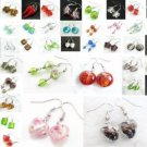 SUPER SALE!!! WHOLESALE LOT 200 PAIRS LAMPWORK GLASS EARRINGS