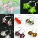 W220F LOT 10PRS STAR LAMPWORK GLASS DANGLE EARRINGS