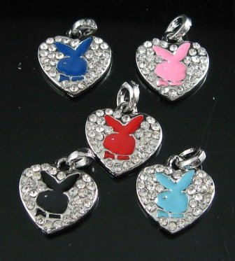 AW422 LOT 5PCS RHINESTONE RABBIT SILVER PENDANTS NECKLACE 16""