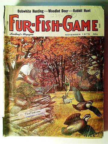 Fur fish game magazine november 1975 for Fur fish and game