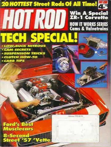 Hot Rod Magazine February 1993