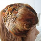 Vintage Rust Feathers Headband Women Hat 50s