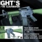 3081C M16A4 Green Stock Knight Rifle
