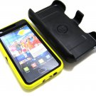 Straight Talk Samsung Galaxy S2 SGH-S959G HOLSTER w/ BUILT IN SCREEN Yellow Case