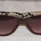 "Vintage Harve Benard ""Boa"" Snakeskin Sunglasses 1985 .... FREE SHIPPING!"