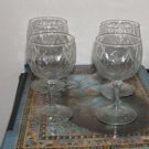"4 Vintage Restaurant Quality ""Diamond Cut"" Water Goblets"