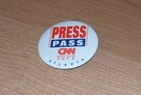 CNN Press Pass Studio Tour Button Atlanta... FREE SHIPPING!