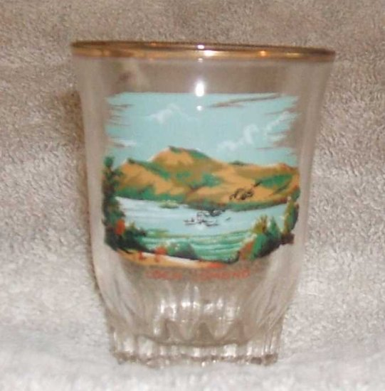Shot Glass Loch Lomond England 1980s Collectible... FREE SHIPPING!