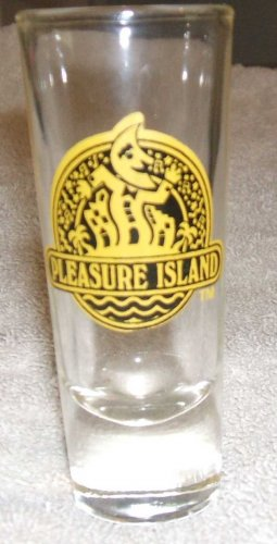 Disney Collectible Shot Glass Pleasure Island Florida 1990s... FREE SHIPPING!