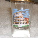 Collectible Shot Glass Roman Colisseum Italy 1980s... FREE SHIPPING!