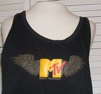 Vintage MTV Muscle T Tank Unisex Men Women Size L Large M TV.... FREE SHIPPING!