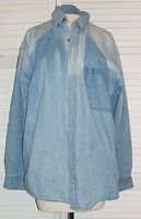 Distressed Denim Shirt Authentic Faded Glory Size L Large