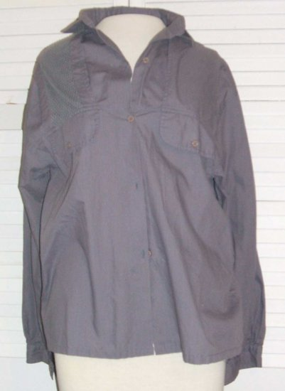 Grey Blouse Shirt Cotton Polyester Pheasant Hill Size 11 / 12... FREE SHIPPING!