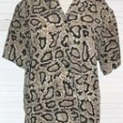 Snake Pattern Shirt Black Brown Polyester Truffles Size L Large... FREE SHIPPING!