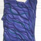 Girls Purple Polyester Ruffled Shirt Size XL Extra Large... FREE SHIPPING!