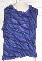 Girls Purple Polyester Ruffled Shirt Size XL Extra Large... FREE SHIPPING!