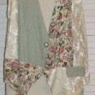 Fancy Silk & Cotton Vest Floral Cameo Sitting Pretty Size L Large...