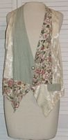 Fancy Silk & Cotton Vest Floral Cameo Sitting Pretty Size L Large...