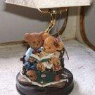 "Story Bears Hand Painted 11"" Ceramic Lamp NWT"